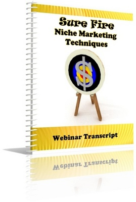 Product picture Niche Mkting Webinar Transcript - NOT FOR SALE INDIVIDUALLY